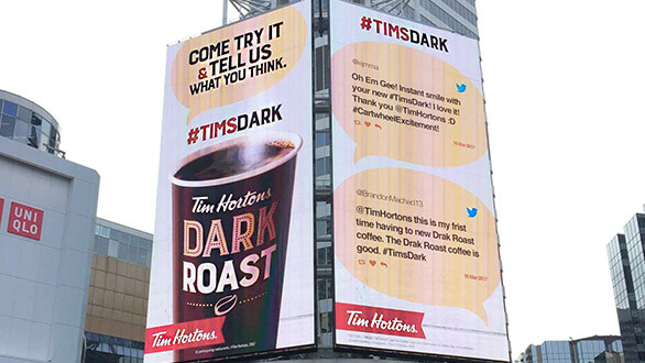tim hortons tweet wall